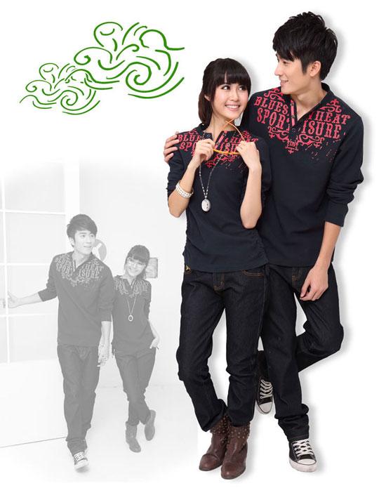韩版V领春季装加厚长袖T恤