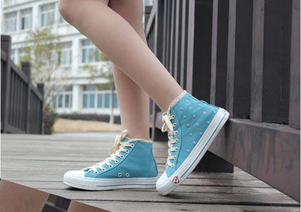 甜美淑女帆布鞋