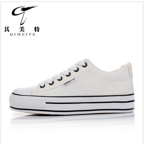 松糕鞋低帮布鞋