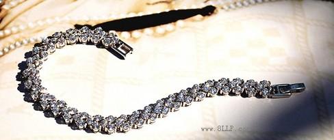 锆钻罗马手链
