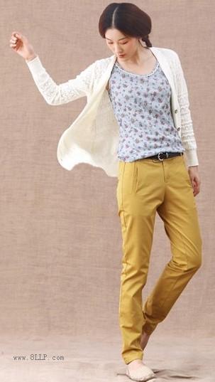 棉麻直筒长裤