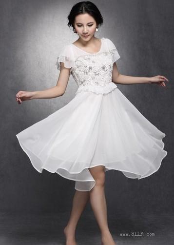 亮片短袖连衣裙