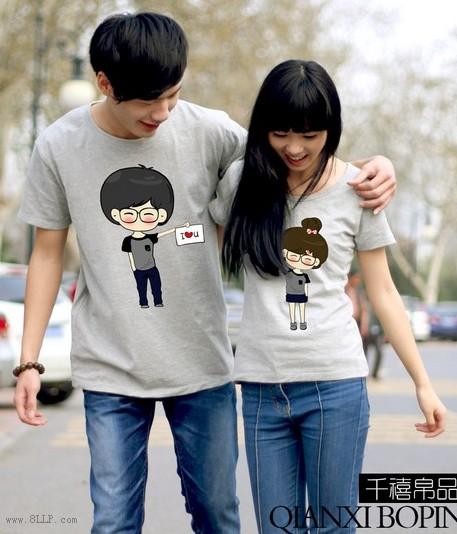 甜美情侣短袖T恤