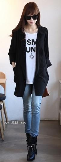 七分袖雪纺衫