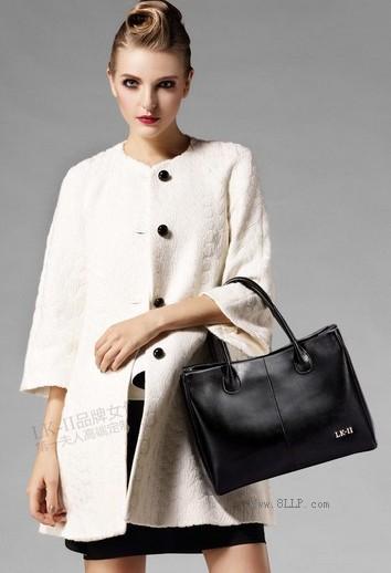 第一夫人牛皮手提包