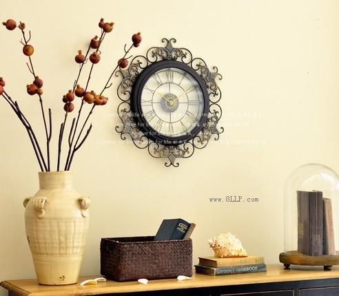 铁艺雕花创意挂钟