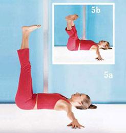 女人瑜珈从头瘦到脚