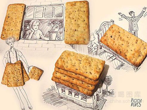 不怕吃货有文化,就怕吃货会画画