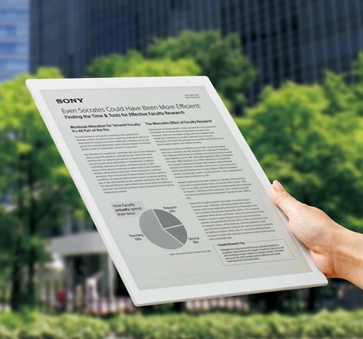 索尼发全球最大电纸书DPT-RP1
